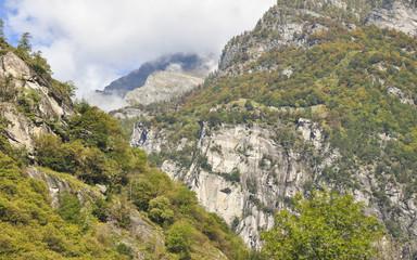 Maggiatal, Maggia, Tal, Fusio, Bergtal, Herbst, Tessin, Schweiz
