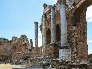 Taormina, Italy, the greek theater