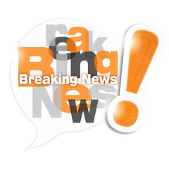 bulle mosaïque lettres : breaking news (cs5)