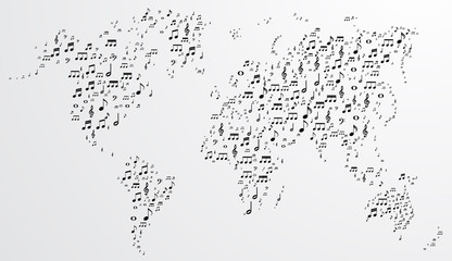 Abstract musical world background