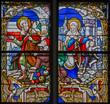 Mechelen - Finding of lost Jesus from windowpane of cathedral
