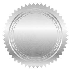 Vector illustration of silver seal