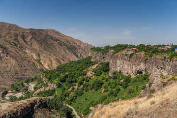View over the valley in Garni, Armenia
