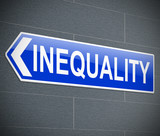 Inequality concept. poster