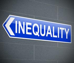 Inequality concept.