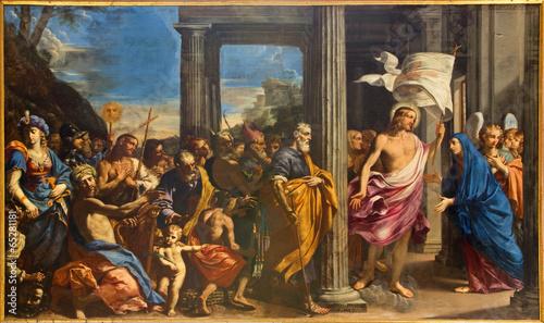 Bologna - Victorious Christ paint in church San Girolamo