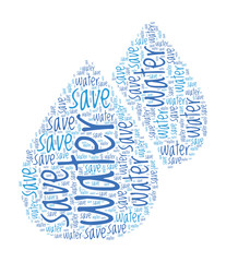 Save Water Concept Word Cloud