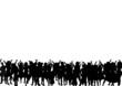 canvas print picture - Menschen Silhouette