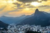 Fototapety Sunset view of Rio de Janairo, Brazil