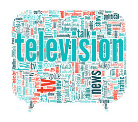 Television Concept Word Cloud