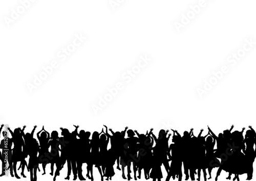 canvas print picture Menschen Silhouette