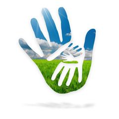 Mani nella natura - logo