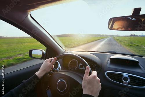 driver in car - 65283306