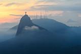 Fototapeta Sunset at christ redeemer, Rio de Janeiro, Brazil