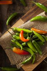 Organic Green Spicy Serrano Peppers