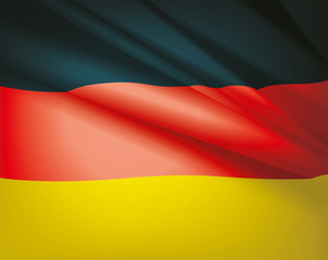 Flag of Germany, vector background