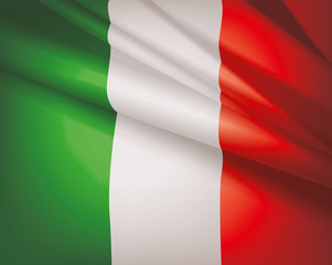 Flag of Italy, vector background