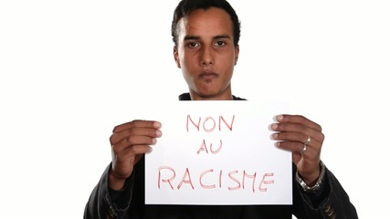 No to racism. French version.