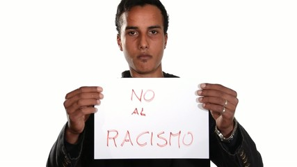 No to racism. Spanish version.