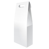 White Tall Cardboard Carry Box Bag Packaging For Food, Gift