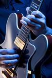 Fototapety playing blues guitar