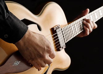 playing custom jazz guitar
