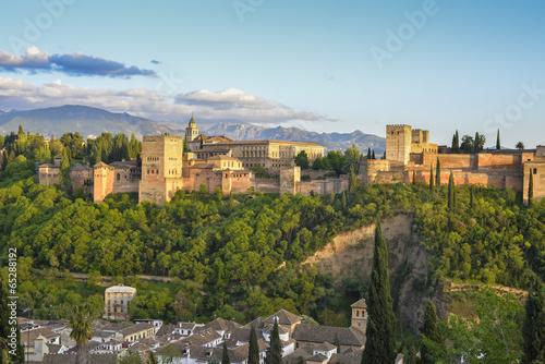 Leinwanddruck Bild Alhambra 3