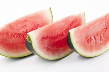 Drei Melonenstücke
