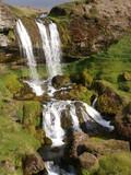 Wasserfall in Island, Snaefellsnes-Halbinsel poster