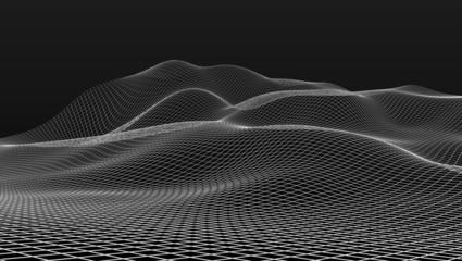 mesh wire scenery