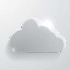 Cloud glass icon.