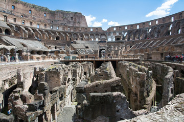 Interior of coliseum