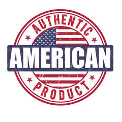Authentic american product stamp