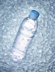 water bottle drink ice cube cold