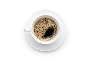 Frische Kaffeetasse mit schaum