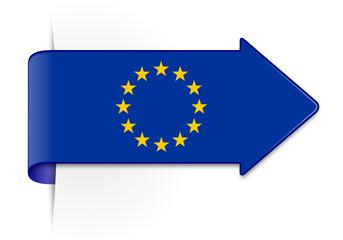 Schild Pfeil Europa