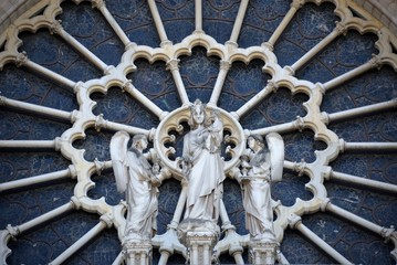 Detail of the Notre Dame in Paris