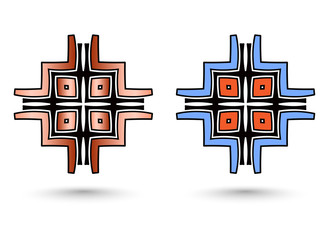 two abstract inca cross