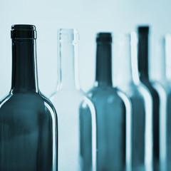 Leer weinflaschen altglas recycling