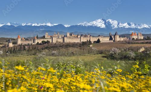 Fotobehang Vestingwerk Ville de Carcassonne