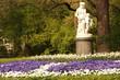 Leinwanddruck Bild - Statue Dresden Großer Garten