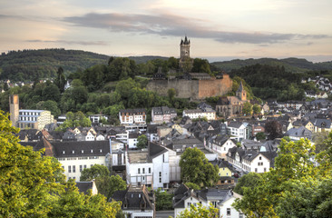 Town Dillenburg with historical Castle in Hesse, Germany