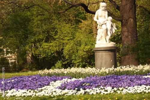 Leinwanddruck Bild Statue Dresden Großer Garten