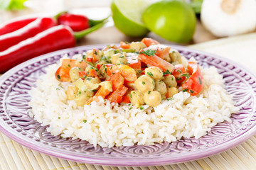 Kichererbsencurry - Curry with chick peas
