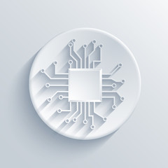 Vector modern circuit board icon.