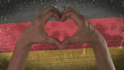 Hands Heart Symbol German Flag