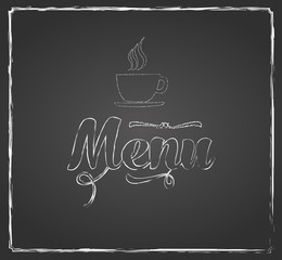 vintage chalkboard menu design