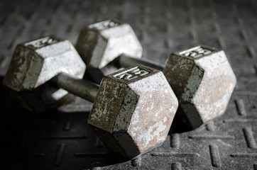 A set of dumbbells