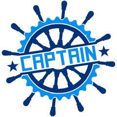 Captain Steuerrad Stempel Logo