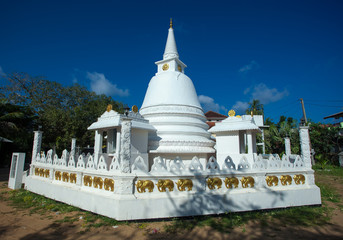 Buddhist symbol of the universe - the white dome with a spire
